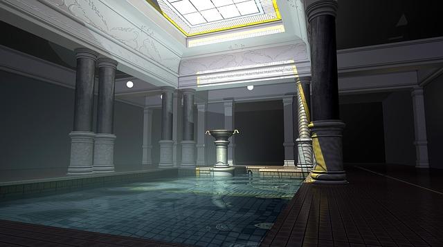 bazén v lázních