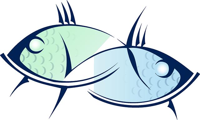 kreslené ryby