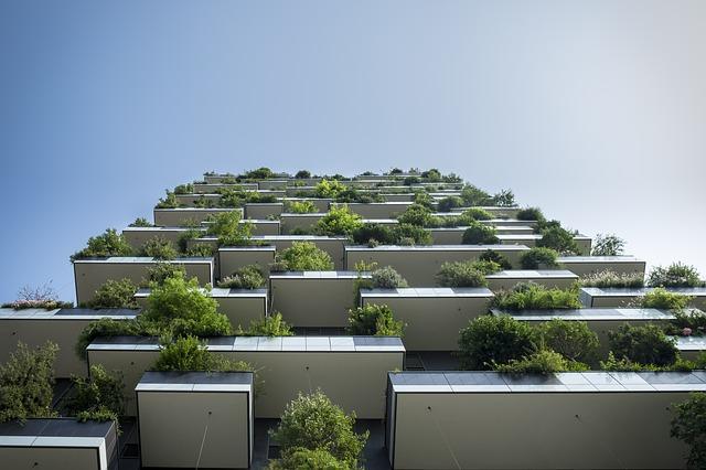 balkony s rozsáhlou zelení
