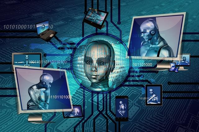 robot na obrazovkách