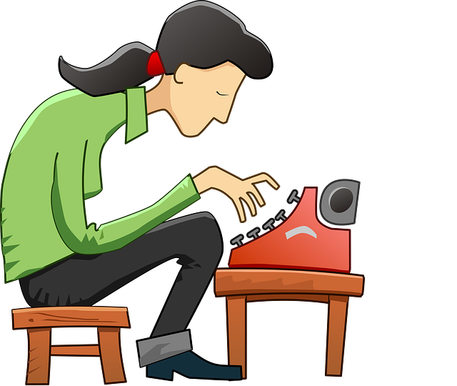 textařka na stroji