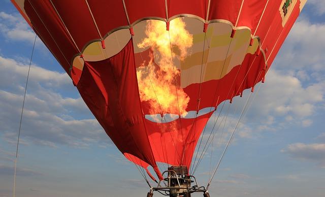 oheň v balonu