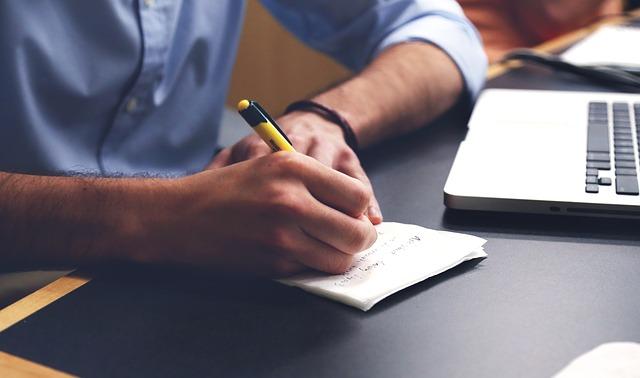 psaní propiskou