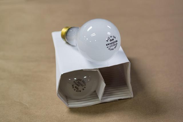 žárovka v krabičce